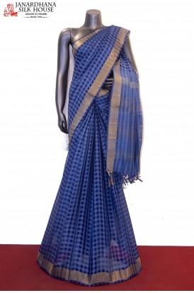Checks Classic Handloom Pure Tussar Silk Saree
