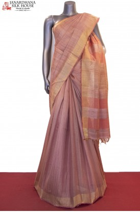 Handloom Pure Tussar Tissue Silk Saree