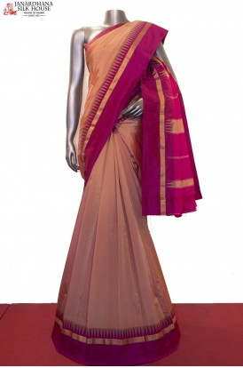 Traditional Temple Art South Silk Saree