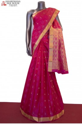 Zari Buttas Classic Pure South Silk Saree