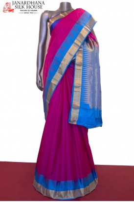 Ganga Jamuna Temple & Contrast Pure South Silk Saree