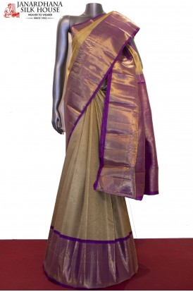 Bridal Gold MasterWeave Grand Kanjeevaram Silk Saree