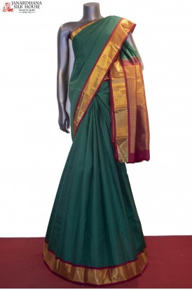 Contrast & Traditional Handloom Wedding Kanjeevaram Silk Saree