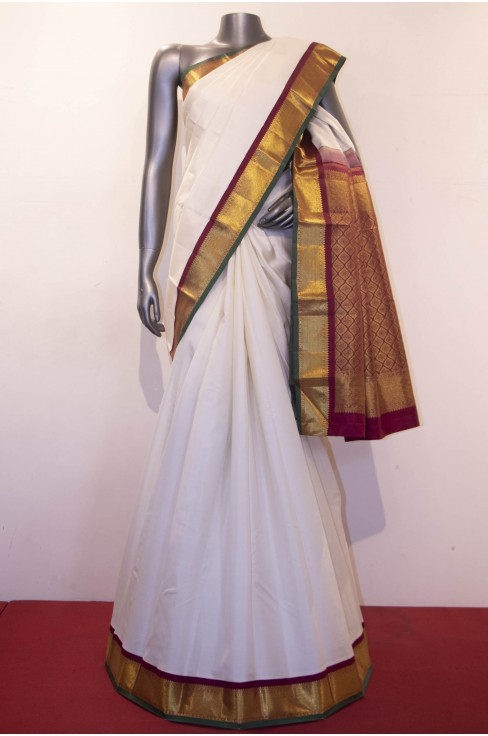 Buy Simple Kanjivaram Saree