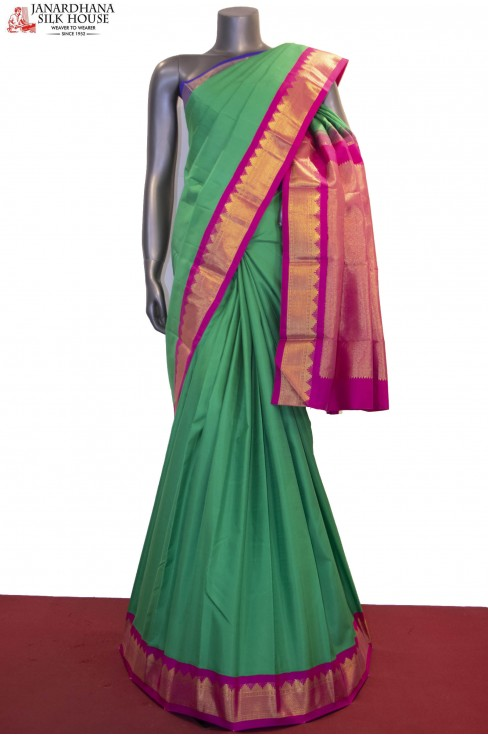 Ganga Jamuna Handloom Wedding Kanjeevaram Silk Saree