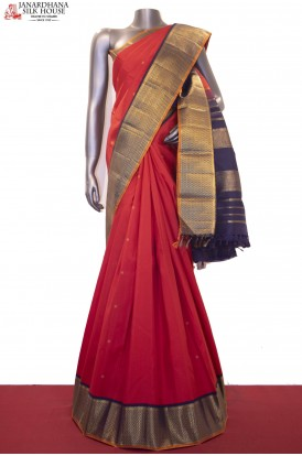 Grand Wedding & Contrast Handloom Kanjeevaram Silk Saree
