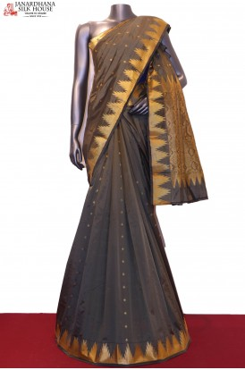Temple & Butta Semi Art Saree