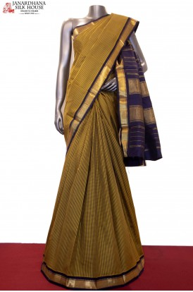 Small Checks Kanjivaram Silk Saree