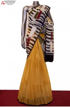 Designer & Exclusive Patli Abstract Prints Pure Silk Chiffon