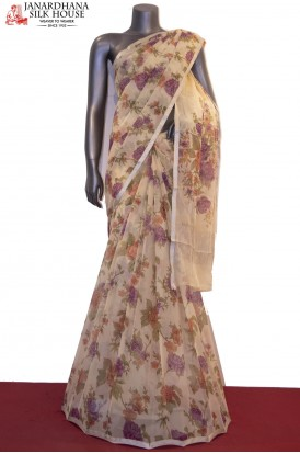 Designer & Exclusive Floral Prints Pure Silk Chiffon