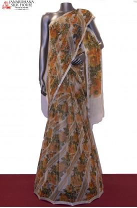 Floral & Badla Work Exclusive Pure Silk Chffion