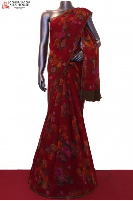 AG200122-Floral Exclusive Finest Quality Pure Silk Chffion