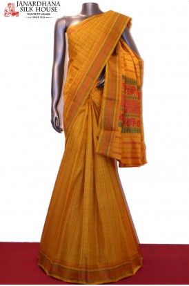 Traditional Thread Weave Kanjeevaram Silk Saree