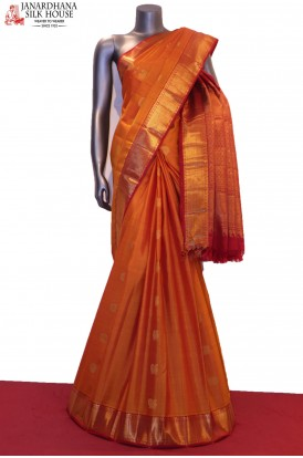 AG200249-Peacock & Chakram-Wedding Classic Kanjeevaram Silk Saree