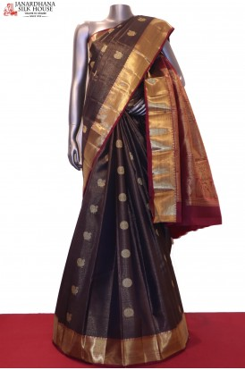 Peacock & Chakam Grand Zari Veldhari Wedding Kanjeevaram Silk Saree
