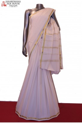 Traditional Finest Quality Pure Mysore Crepe Silk Saree