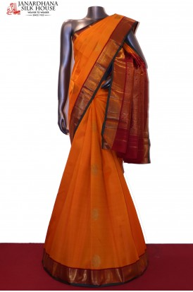 Contrast & Exclusive Wedding Kanjeevaram Silk Saree