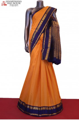 Exclusive Checks & Contrast  Kanjeevaram Silk Saree