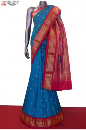 Exclusive Paithani & Contrast Pure South Silk Saree