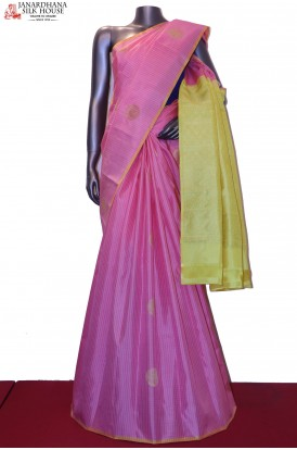 AG200374-Designer Checks & Butta Kanjeevaram Silk Saree