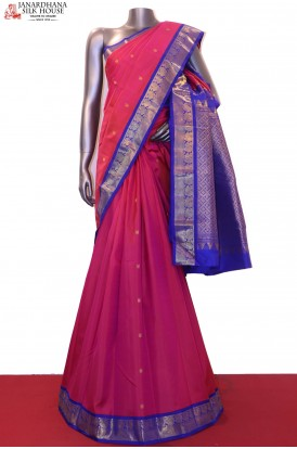 AG200384-Wedding Classic & Contrast Kanjeevaram Silk Saree