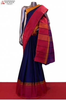 Ganga Jamuna Temple Thread Weave Kanjeevaram Silk Saree