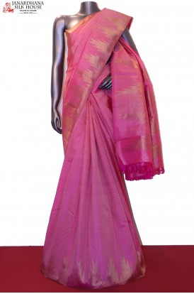 Temple & Pink Wedding Classic Kanjeevaram Silk Saree