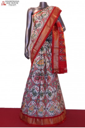 AG200595-Exclusive MasterWeave Handloom Pure Ikat Patola Silk Saree