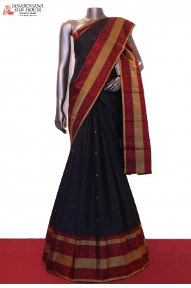 Exclusive Thread & Traditional Weave Kanjeevaram Silk Saree