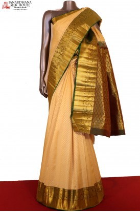 AG200698-Traditional Wedding Kanjeevaram Silk Saree