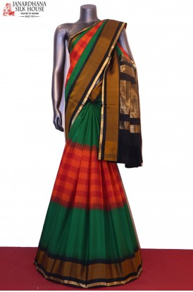 Checks & Exclusive Handloom Pure Soft Silk Saree
