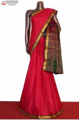 Traditional & Contrast Pure South Silk Saree
