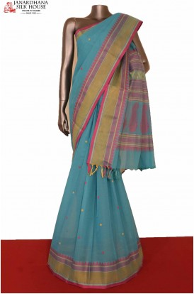 Thread Weave Village Cotton Saree
