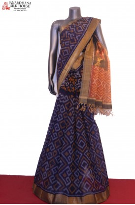 AG201133-Exclusive Handloom Pure Pochampally Silk Cotton Saree