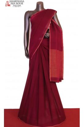 Party Wear Pure Silk Chiffon-Zari Brocade Blouse
