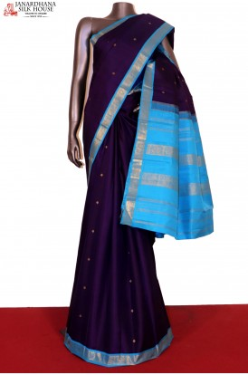 Traditional & Contrast Kanjeevaram Silk Saree