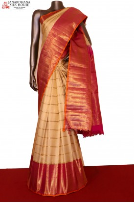 AG201376-MasterWeave Grand Zari Veldhari Line Exclusive Wedding Kanjeevaram Silk Saree