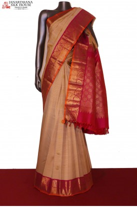 AG201388-Grand Chakram & Traditional Wedding Kanjeevaram Silk Saree