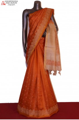 Designer & Exclusive Embroidery Pure Tussar Silk Saree