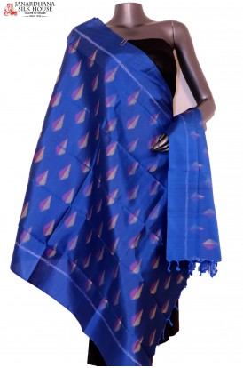 AG201421-Finest Quality & Exclusive Pure Silk Ikat Dupatta
