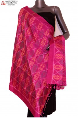 AG201428-Finest Quality & Exclusive Pure Silk Ikat Dupatta