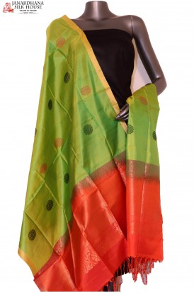 AG201439-Exclusive Thread Weave Handloom Pure Silk Dupatta