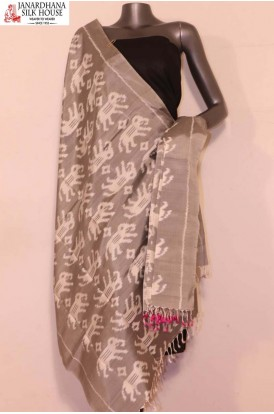 AG201443-Finest Quality & Exclusive Pure Silk Ikat Dupatta