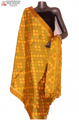 AG201445-Finest Quality & Exclusive Pure Silk Ikat Dupatta