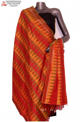AG201447-Finest Quality & Exclusive Pure Silk Ikat Dupatta