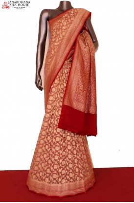 AG201463-Floral Exclusive & Grand Banarasi Georgette Silk Saree