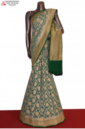 AG201473-Floral Exclusive & Grand Banarasi Georgette Silk Saree