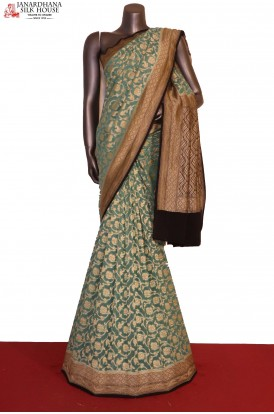 AG201474-Floral Exclusive & Grand Banarasi Georgette Silk Saree