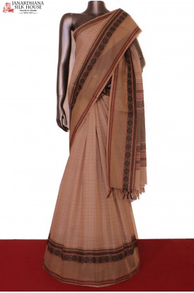 AG201524-Exclusive & Grand Handloom Thread Weave Pure Village Cotton Saree