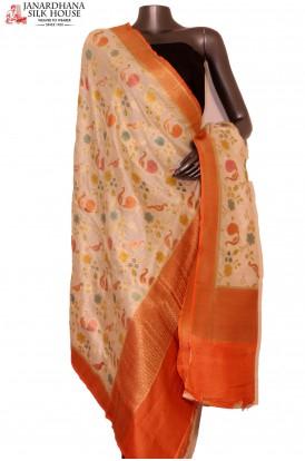 Exquisite & Designer Finest Quality Handloom Pure Tussar Silk Dupatta